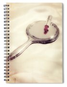 Mirror With Lipstick Spiral Notebook