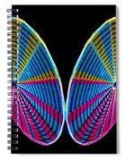 Mirrored Wheel Spiral Notebook