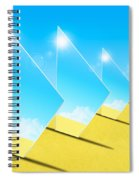 Mirrors On Sand In Blue Sky Spiral Notebook