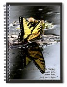 Missing You - Butterfly Spiral Notebook