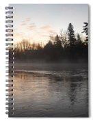 Mist Over The Mississippi Spiral Notebook