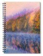 Misty Autumn Morning Spiral Notebook