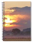 Misty Country Sunrise  Spiral Notebook