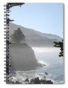 Misty Morning On The Big Sur Coastline Spiral Notebook