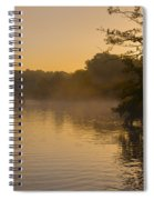Misty Morning On The Grand Union Canal Spiral Notebook