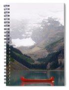 Misty Paddle - Lake Louise, Alberta Spiral Notebook