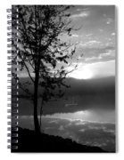 Misty Reflections Bw Spiral Notebook