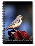 Mockingbird Holidays Spiral Notebook