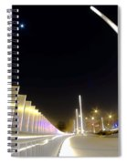 Modern Street Lighting Spiral Notebook