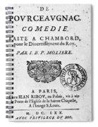Moliere (1622-1773) Spiral Notebook