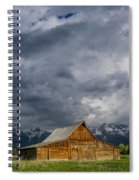 Molton Barn And Approaching Storm Spiral Notebook