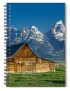 Molton Barn And Grand Tetons Spiral Notebook