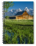 Molton Barn And Trees Spiral Notebook