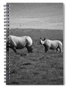 Mom And Child Black Rhinos Spiral Notebook