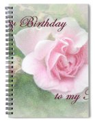 Mom Birthday Greeting Card - Pink Rose Spiral Notebook