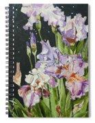 Mom's Night Iris Spiral Notebook