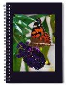 Monarch On A Black Knight Butterfly Flower Spiral Notebook