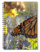 Monarch On The Dunes  Spiral Notebook
