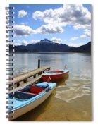 Mondsee Lake Boats Spiral Notebook