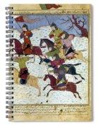 Mongol Battle, C1400 Spiral Notebook