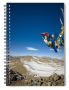 Mongolia Prayer Flags Outside Spiral Notebook