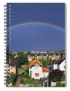 Monkstown, Co Dublin, Ireland Rainbow Spiral Notebook