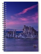 Mono Lake's Fiery Sky Spiral Notebook