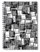 Monochrome Squares Spiral Notebook