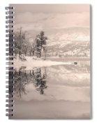 Monotone Winter Spiral Notebook