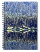 Montana Lake Reflection Spiral Notebook