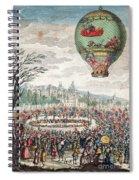 Montgolfier Balloon Le Flesselles Spiral Notebook