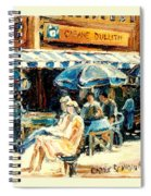 Montreal Cafe City Scenes Prince Arthur And Duluth Street Spiral Notebook