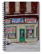 Montreal Corner Market Winter Scene Spiral Notebook