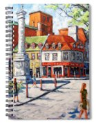 Montreal Street Urban Scene By Prankearts Spiral Notebook