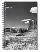 Monument Valley In Monochrome  Spiral Notebook