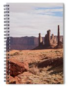Monument Valley Totem Pole Spiral Notebook