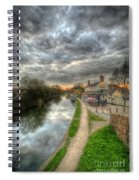 Moody Sunset At The Boat Inn Spiral Notebook