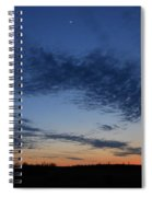 Moon And Clouds At Dusk Spiral Notebook