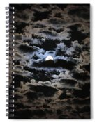 Moon And Clouds Spiral Notebook