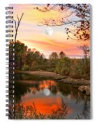 Moon And Pond Spiral Notebook