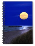 Moon On The Beach Spiral Notebook