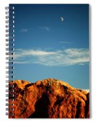 Moon Over Red Rocks Garden Of The Gods Spiral Notebook