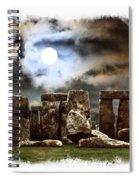 Moon Over Stonehenge Spiral Notebook