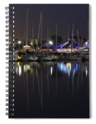 Moon Over The Marina Spiral Notebook