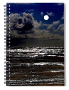 Moon Over The Pacific Spiral Notebook