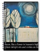 Moon Quote Poster Spiral Notebook