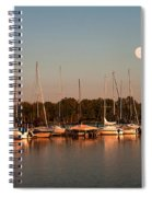 Moon Rises Over The Marina Spiral Notebook