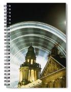 Moon Rising Behind Big Wheel Spiral Notebook