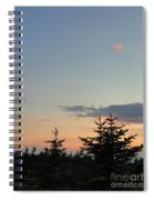 Moon Watching The Sunset In Acadia Spiral Notebook