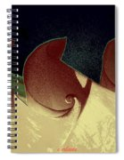 Moon Waves Spiral Notebook